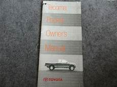 free car repair manuals 1998 toyota tacoma user handbook 1998 toyota tacoma quick reference guide owners manual supplement ebay