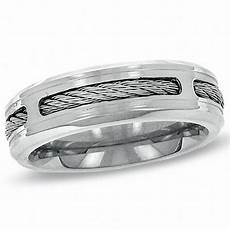 triton men s 8 0mm comfort fit stainless steel cable wedding band stainless steel rings