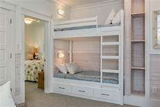 bunk bed cottage with lacquered white floor l kids contemporary and linen decorative pillows