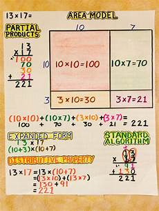standard algorithm division 4th grade worksheets 6698 multiplication area model partial products expanded form distributive property standard