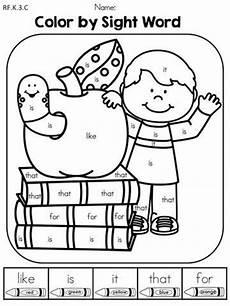 back to school kindergarten language arts no prep worksheets sight word coloring kindergarten