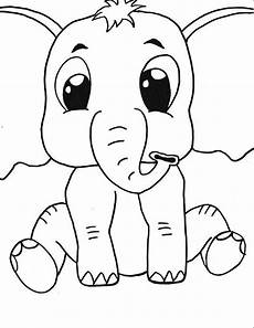 baby elephant printable coloring page coloring