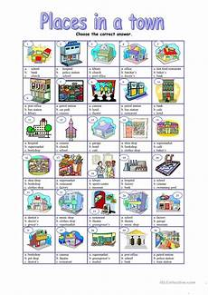 places around town worksheets 16029 places in a town worksheet free esl printable worksheets made by teachers