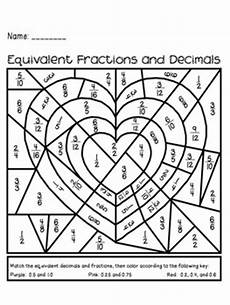 fraction worksheets colouring 3874 s day equivalent fractions and decimals activity by the busy class