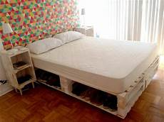 Pallet Bed With Storage Underneath 130 Inspired Wood