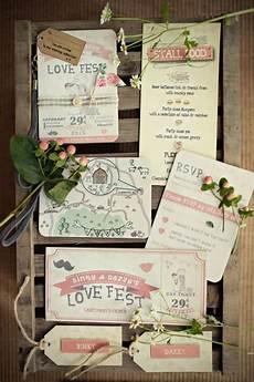 faire part mariage diy festival wedding electric picnic wedding by invitation