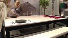 fusion tables combination pool and dining table icff 2015