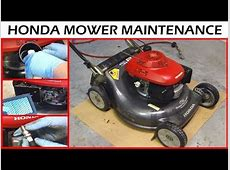 Honda Lawnmower Maintenance How To   Oil Change & Sharpen