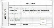 download kwitansi pembayaran tanda terima format ms word