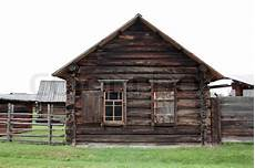 Ancient Log House In An Russian Stock Photo
