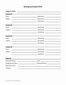 free contact form employee emergency contact printable form pictures to pinterest pinsdaddy