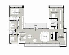 courtyard house plans u shaped u shaped house plans with courtyard dise 241 o de casa