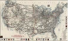 vintage highway map of the united states by the american
