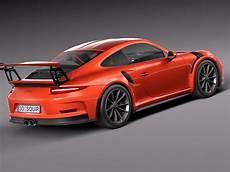Porsche 911 Gt3rs 2016 3d Model Max Obj 3ds Fbx C4d