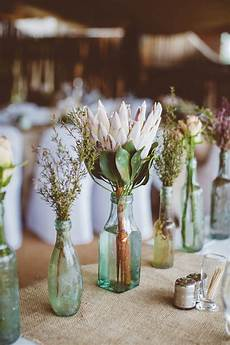 how to create those stunning handmade wedding table decorations get floral chwv protea