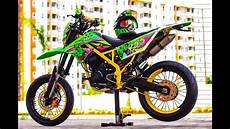 Modifikasi Klx Supermoto by Modifikasi Kawasaki Klx Dengan Tema Supermoto