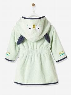 peignoir personnalisé bébé peignoir de bain b 233 b 233 personnalisable hibou vert p 226 le