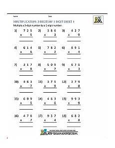 digit multiplication worksheets grade 3 4771 multiplication sheet 4th grade