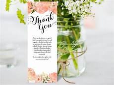 thank you card editable template thank you card diy editable ms word template peony