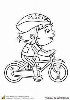 image vélo à imprimer coloriage activit 233 s de tous les jours faire du v 233 lo