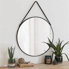 miroir rond metal miroir rond en m 233 tal noir d55 maisons du monde