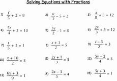 algebra worksheets variables on both sides 8615 solving equations with variables on both sides with fractions worksheet briefencounters