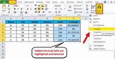hide formulas in excel exles how to use hide