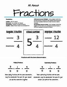 parent cheat sheets all about fractions by kelly