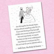 Poems For Asking For Money As A Wedding Gift