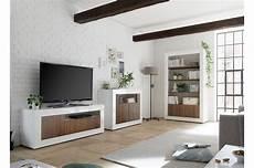 salon complet blanc bois meuble tv commode