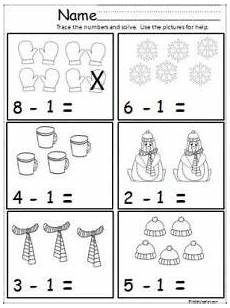 winter subtraction worksheets 20085 free winter math subtraction page kindergarten subtraction worksheets winter math