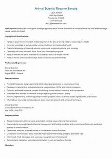 resume sles animal scientist resume sle