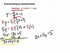 6 2 3 slope intercept and standard forms