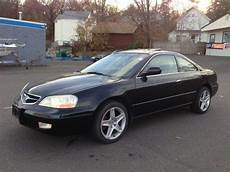 purchase used 2001 acura cl type s coupe 2 door 3 2l black on black exc condt no reserve in