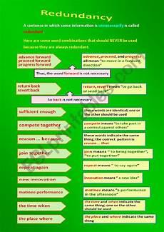 grammar redundancy worksheets 24955 redundancy esl worksheet by elyadiva