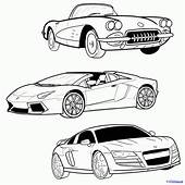 How To Draw A Sports Car Step By Cars
