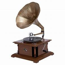 1305 Record Player Antique Gramophone Turntable by Vintage Record Player Someday Library Phonograph