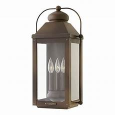 hinkley lighting anchorage light oiled bronze outdoor wall