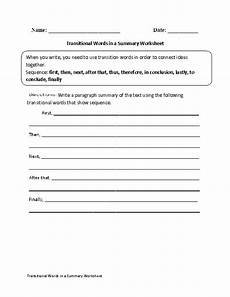 summary writing worksheets for grade 4 22902 transitional words in a summary worksheet transition words transition words worksheet