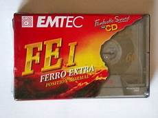 cassette audio vergini cassette audio emtec 60 fei ferro lotto 10