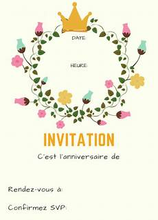 Invitations Anniversaire Fille