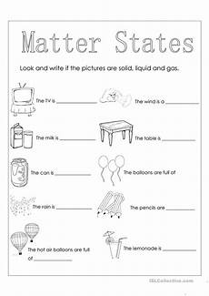 matter states english esl worksheets for distance learning and physical classrooms
