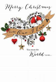 merry christmas to the one i love card one i love embellished christmas card cards