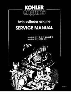 small engine repair manuals free download 2011 cadillac escalade esv engine control kohler kt17 kt19 series ii service manual