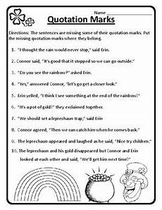 grammar worksheets using quotation marks 24941 st s day grammar quotations st s day quotation marks worksheets