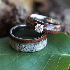 unique wedding ring antler wedding band