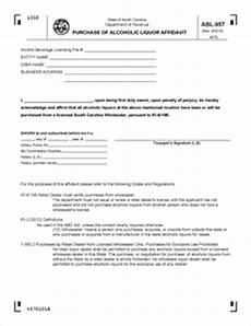 form abl 957 fillable purchase of alcoholic liquor affidavit