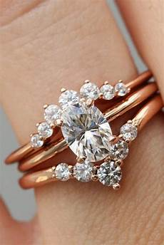 04 oval rose gold engagement ring with vintage wedding band my sweet engagement