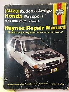 car repair manuals online free 1995 honda passport security system haynes 47017 repair manual isuzu rodeo amigo honda passport 1989 thru 2002 ebay