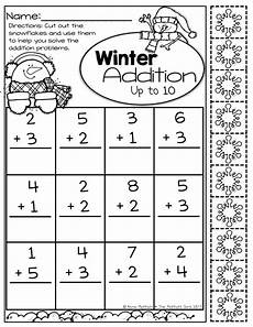 winter addition worksheets for kindergarten 9376 simple addition up to 10 with built in snowflake manipulatives simple math winter math math